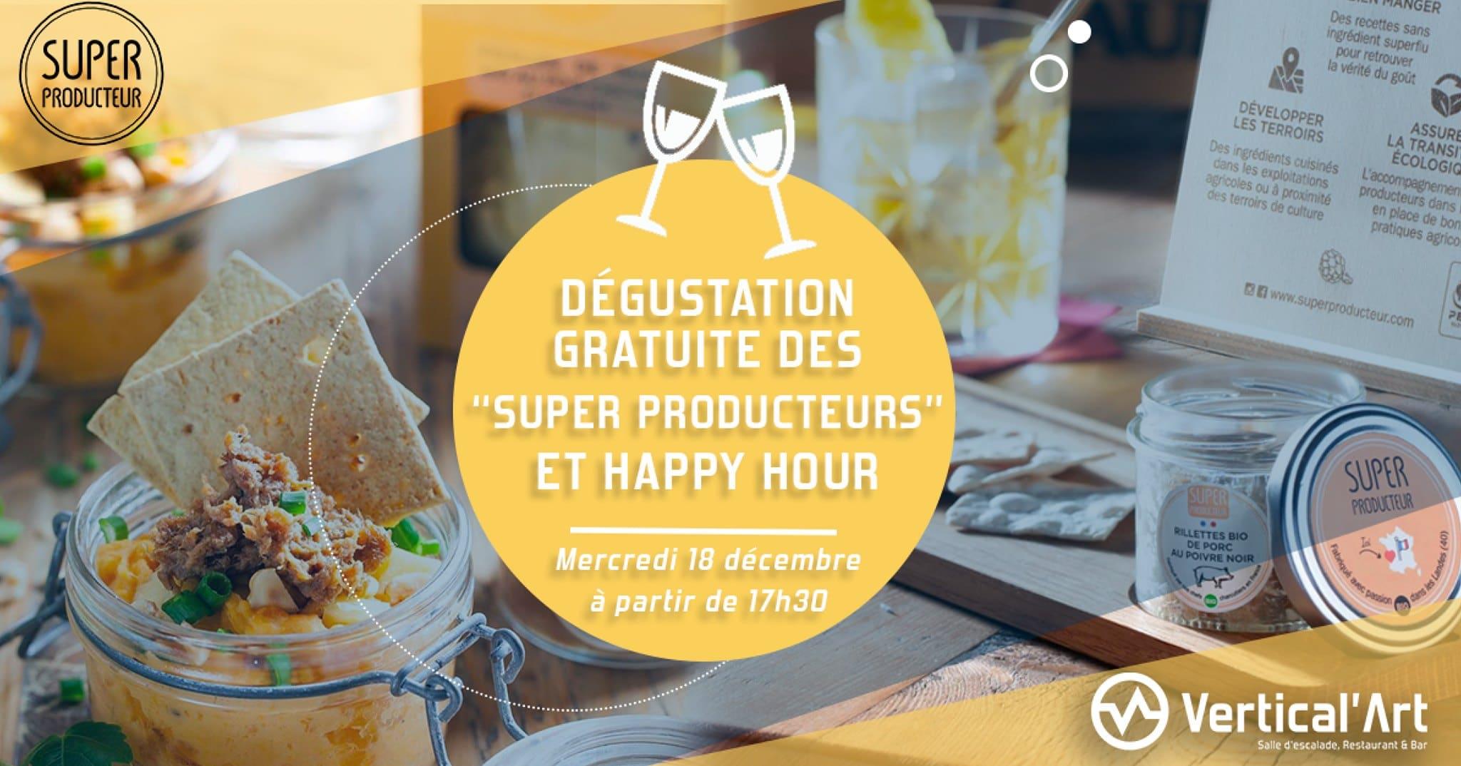 Dégustation gratuite- Superproducteur et Vertical'Art -Manger mieux et plus sain à paris -Paris dégustation -dégustation pré_noël- salle d'escalade de bloc à paris - Vertical'Art pigalle - Miam