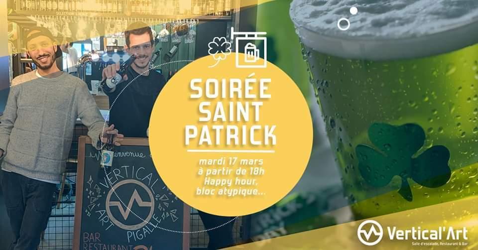 17 mars- Sortir à Paris - St patrick's day - L'Irlande à l'honneur - grimper à Paris Vertical'Art fête la saint patrick