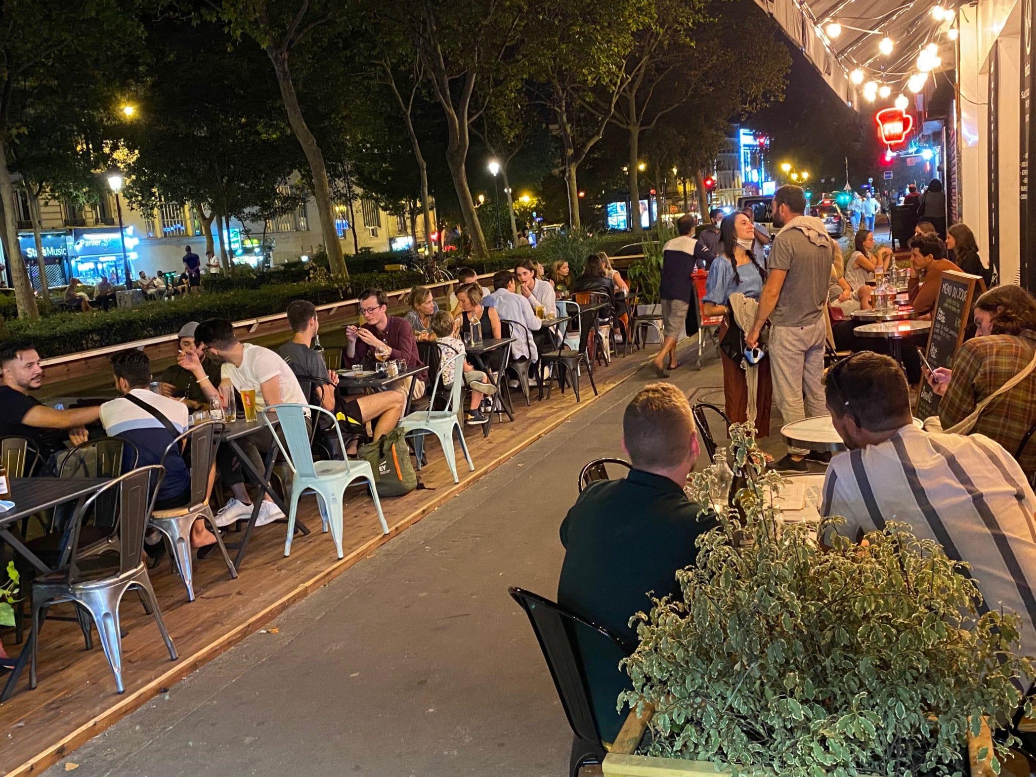 Terrasse restaurant salle d'escalade Vertical'Art Paris Pigalle