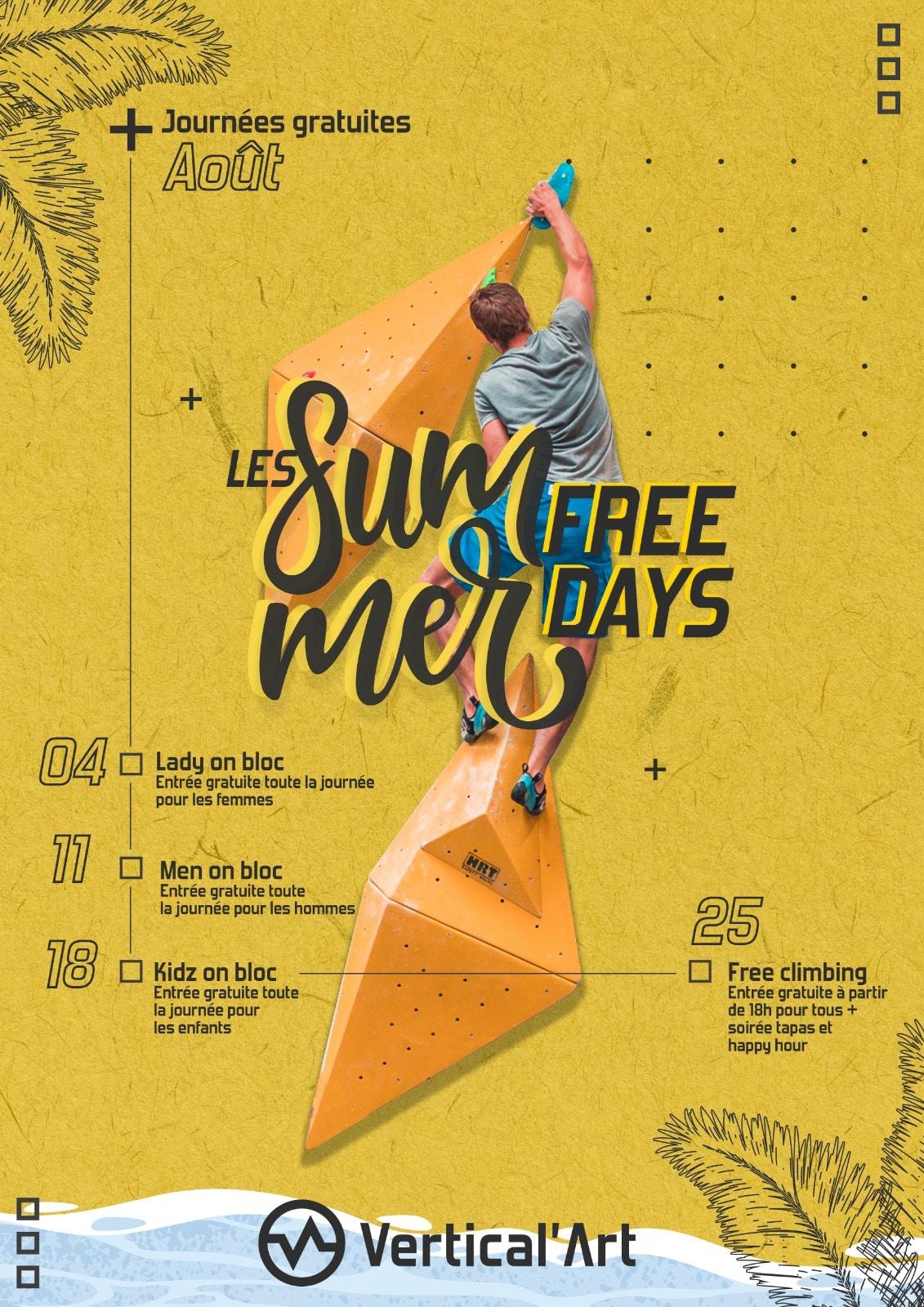Summer Free Days Vertical'Art août 2021